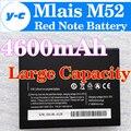 Bateria Mlais M52 100% Original New 4600 mAh Alta Capacidade de Substituição Celular Bateria de backup M52 mlais Nota Vermelha