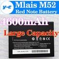 Mlais M52 Batería 100% Original Nueva 4600 mAh de Alta Capacidad Del Teléfono Celular de Reemplazo Bateria de reserva mlais M52 Nota Roja