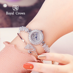 Image 5 - מלא קריסטל רויאל קראון ליידי נשים של שעון יפן קוורץ שעות בסדר תכשיטים שעון צמיד יוקרה ילדה של מתנה