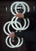 Osiem ring-żonglerka (4 szt 8) linkami pierścionki, grubość 7mm-magiczne sztuczki, Illusions, mentalizm, ogień, etapie, nowości