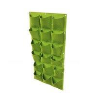 18 Pocket For Plants Flower Garden Wall Vertical Grow Bags Felt Planter Bags Hot Sale