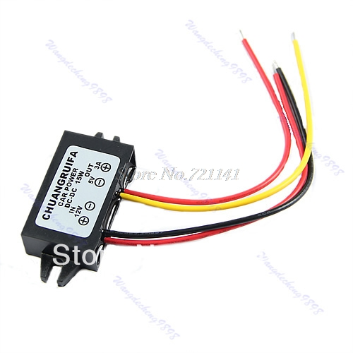 DC/DC Converter Regulator 12V To 5V 3A 15W Car Led Display Power Supply