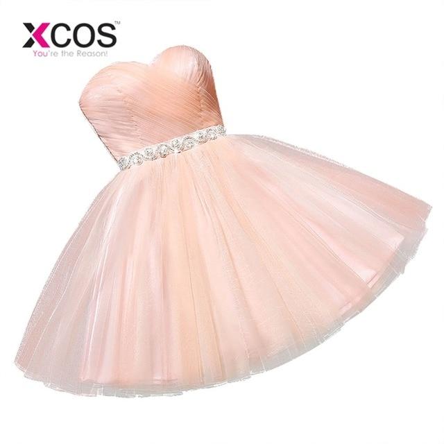 941ead663f Cheap Graduation Dress Sexy Peach Beaded Sash Short Homecoming Dresses 2018  Short 8th Grade Prom Dresses Vestido de Festa-in Homecoming Dresses from ...