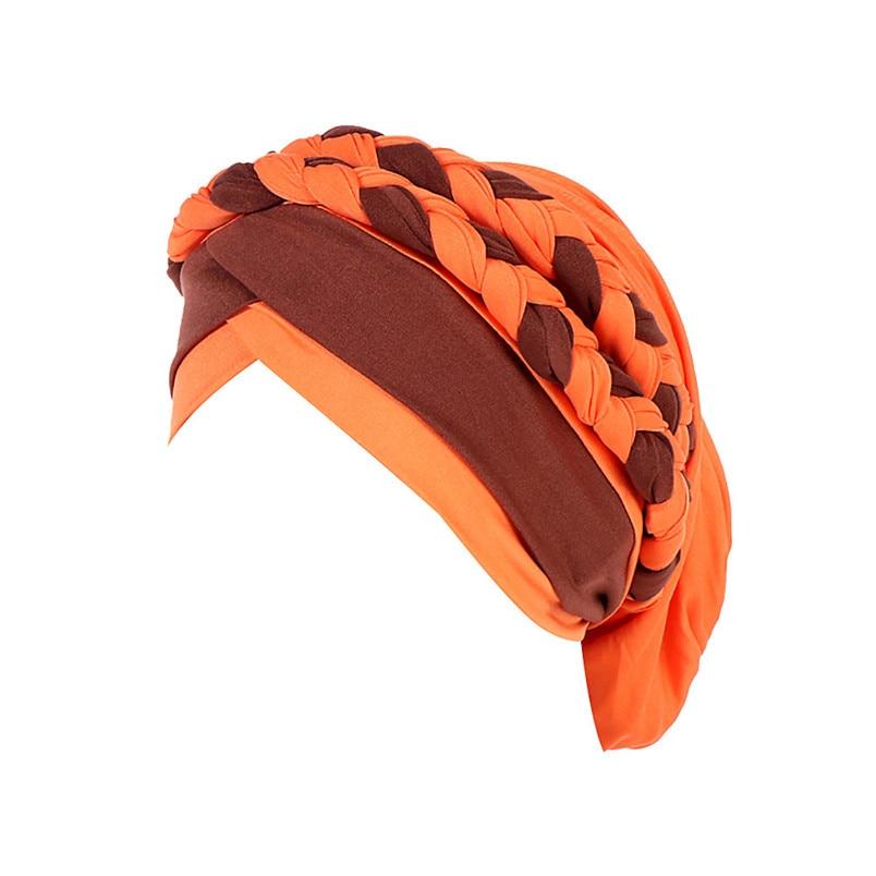 2018 Fashion New Women Hairbraid India Africa Muslim Stretch Turban Cotton Hair Loss Head Scarf Wrap Cap Casual Hot Sale #L26 (8)