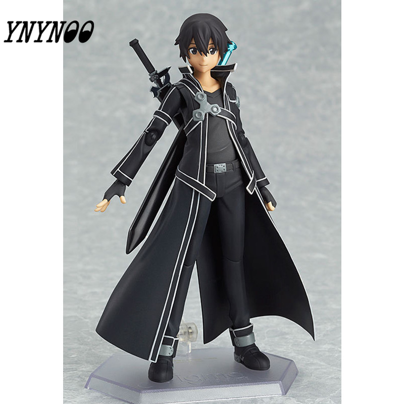 YNYNOO Hot SAO Sword Art Online Kirigaya Kazuto Kirito Figma 15CM Figure PVC Figurine CHN Ver. Boxed new fashion sword art online cosplay bag sao kirigaya kazuto anime shoulder bag pu waterproof travel messenger bags
