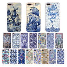 Ceramic decorative pattern Soft silicone Funda Coque For iPhone case X XS XR max 7 8 6s 6 plus cover 5 5s se TPU phone shell цена и фото