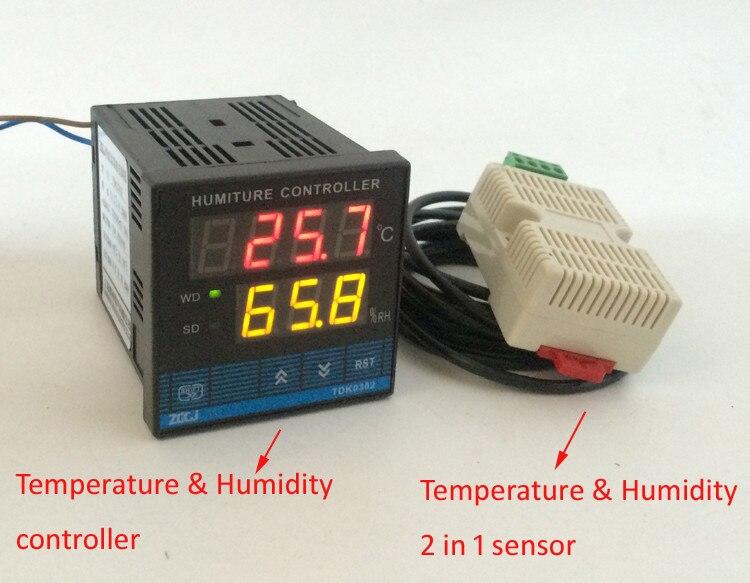 Livraison gratuite!!! Stock de détecteur de compteur d'humidité de contrôleur de température et d'humidité