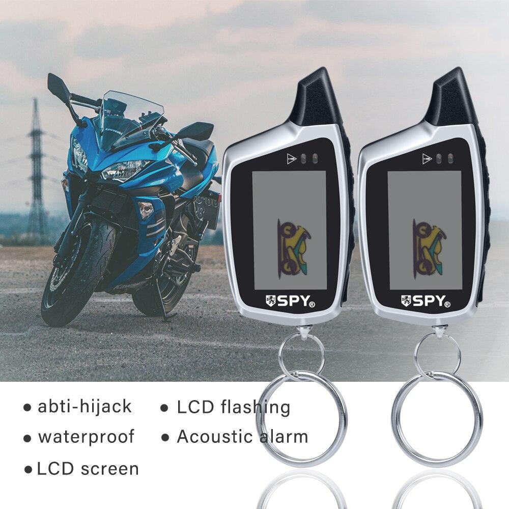 Équipement de système d'alarme de moto Anti-vol de capteur à micro-ondes bidirectionnel de 5000m avec 2 émetteurs d'affichage à cristaux liquides démarrage à distance du moteur