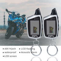5000m Two Way Microwave Sensor Anti - theft Motorcycle Alarm System Equipment With 2 LCD Transmitters Remote Engine Start