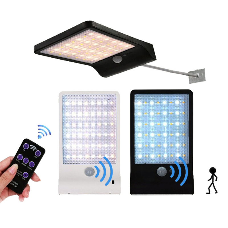 48 LED Solar Street Light PIR Motion Sensor Lamps Garden Security Lamp 3 Modes Dimmable With Controller Outdoor Wall Light48 LED Solar Street Light PIR Motion Sensor Lamps Garden Security Lamp 3 Modes Dimmable With Controller Outdoor Wall Light