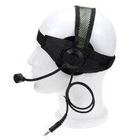מכשיר הקשר 2 פין PTT טקטי באומן עלית II אוזניות עם מיקרופון U94 סגנון עבור מידלנד מכשיר הקשר G6 G7 GXT550 GXT650 LXT80 LXT112 LXT435 (2)