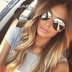 TOYEARN винтажные классические брендовые Дизайнерские мужские солнцезащитные очки пилота для женщин и мужчин для вождения UV400 зеркальные солн...
