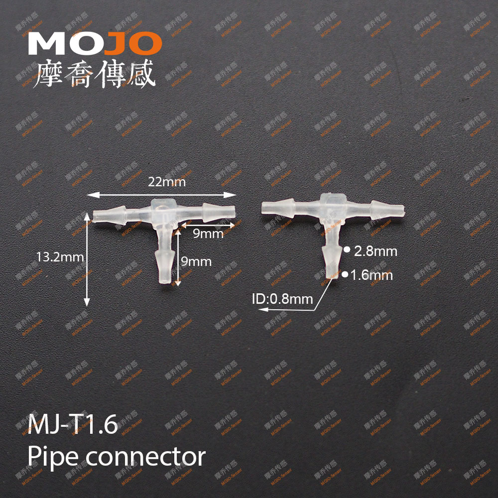 2019 Free shipping 100pcs Lots MJ T1 6 1 16 Tee pipe connectors 1 6mm three