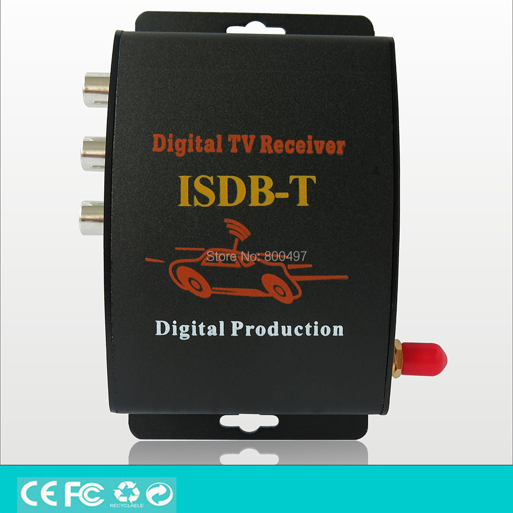 Car ISDB-T Brazil One Seg HD 1080P HDMI Digital CVBS Mobile Digital TV Receiver Mobile MPEG4 Digital TV Tuner HD Receiver Box dvb t isdb digital tv box for our car dvd player