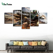 Home Decor Artwork Paintings On Canvas 5 Panel Movie Star Wars Framework Pictures Vintage Posters And Prints The Wall