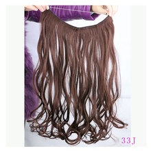 New Design 1Pcst Fishing Line 45cm Long Wavy Clips in Hair Extensions 14 Colors Synthetic Hairpiece Natural Hair Extension