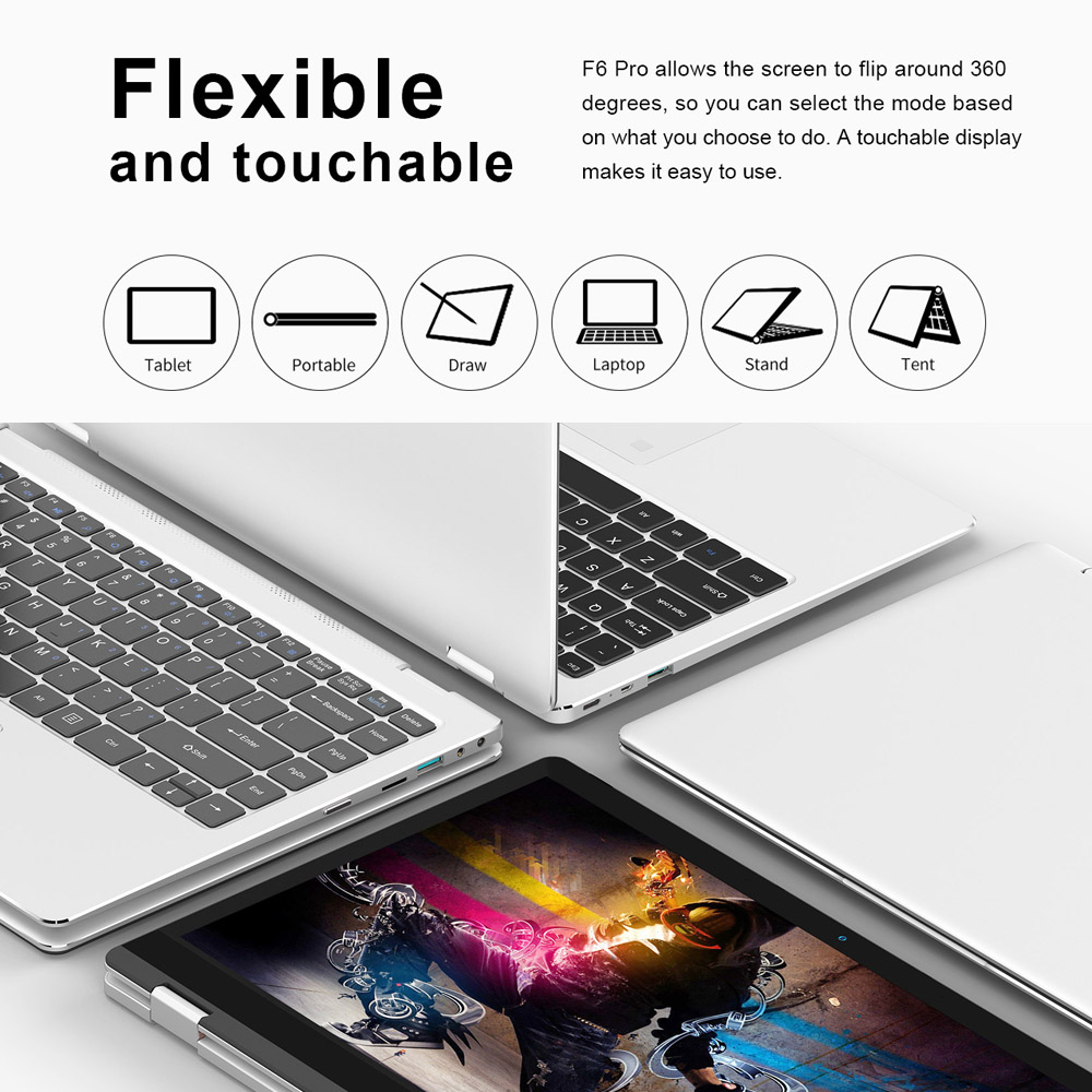 Teclast F6 Pro NotLaptop PC 8GB RAM 128GB SSD Fingerprint Recognition 13 3  inch for Windows 10 Home for Intel Core m3-7Y30