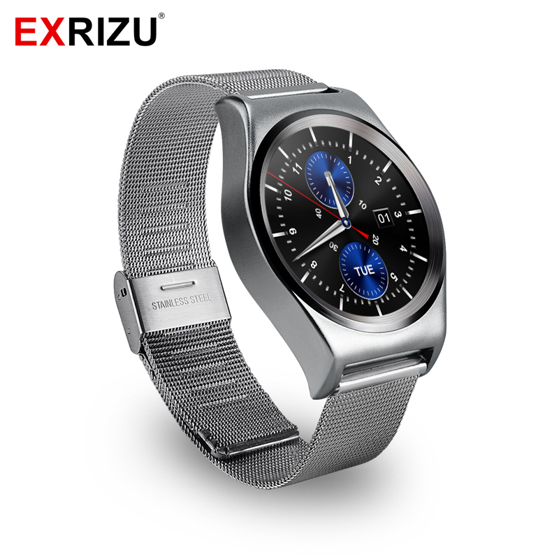EXRIZU X10 Men Women Smart Watch Full Circle Screen Bluetooth Smartwatch Heart Rate Monitor Temperature Altitude for Android iOS