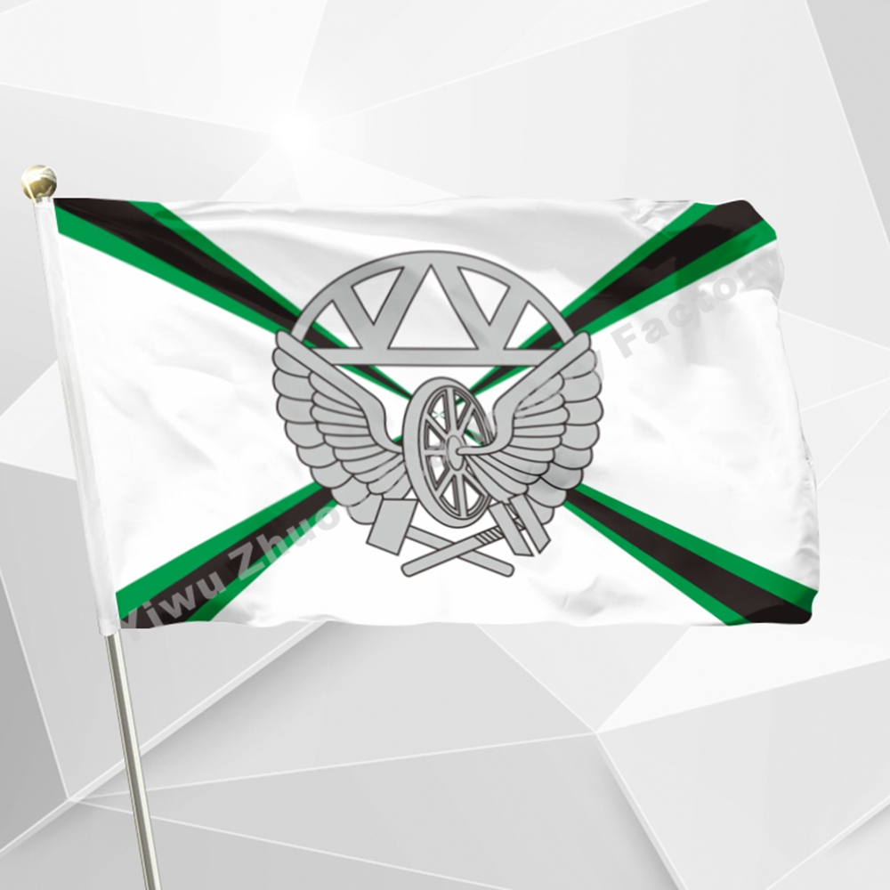 Russian Army Railway Troops Flag 3ft X 5ft Polyester Banner Flying 150* 90cm Custom Flag Outdoor RA83