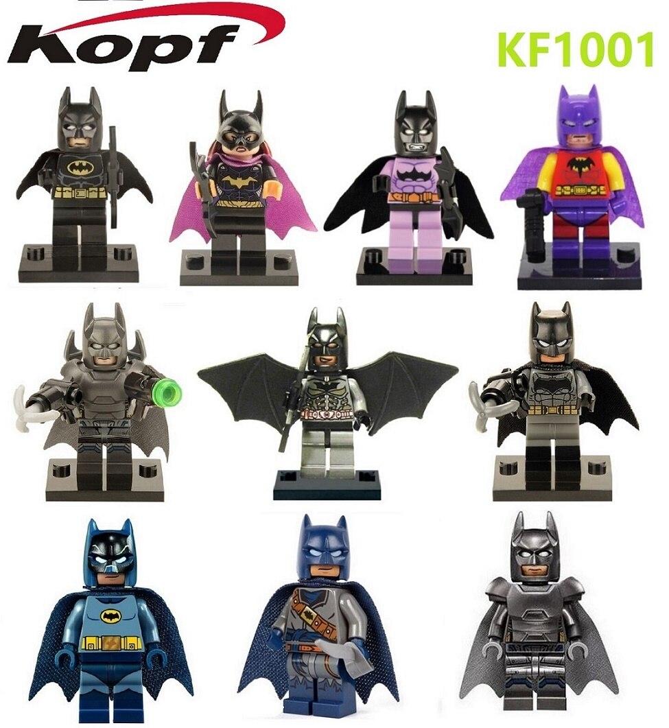 KF1001 Avengers Assemble Batman And Batwoman Figures Building Blocks Super Heroes Star Wars Figures Action Model Kids Toys