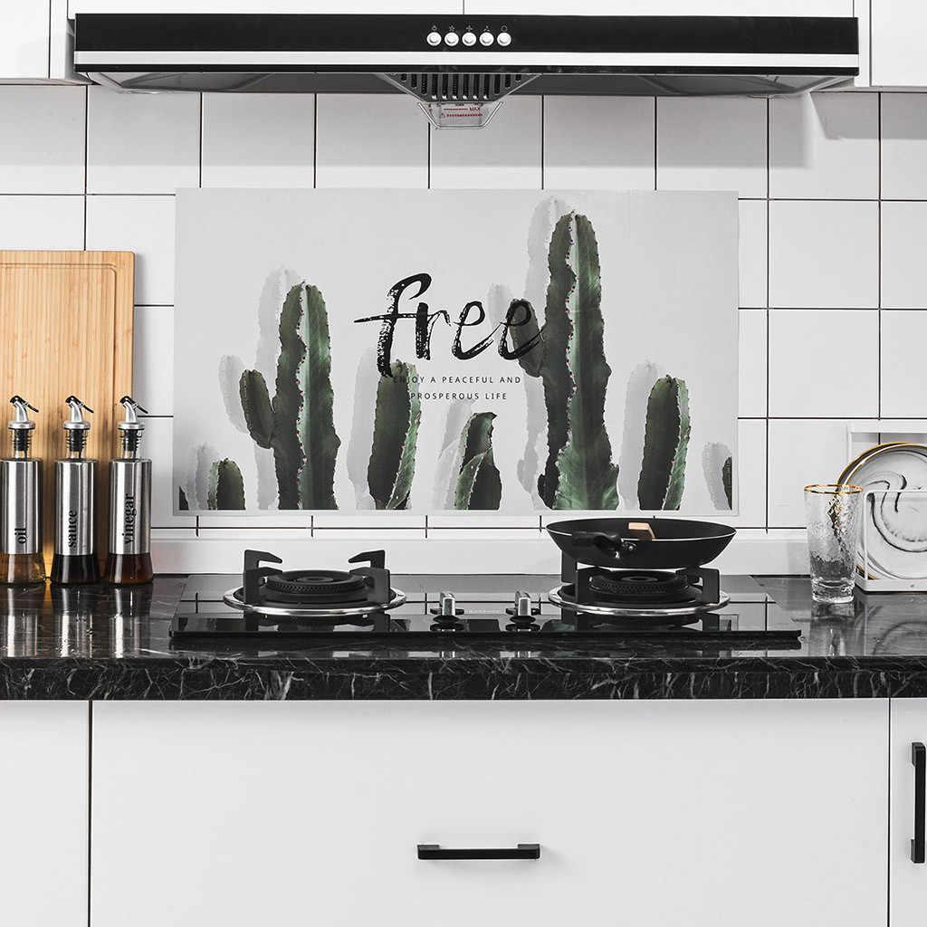 2020 חם Kichen אביזרי אלומיניום רדיד מטבח ארון מדבקה עמיד למים Selfadhesive טפט Entonnoir Inox מזון כיסוי