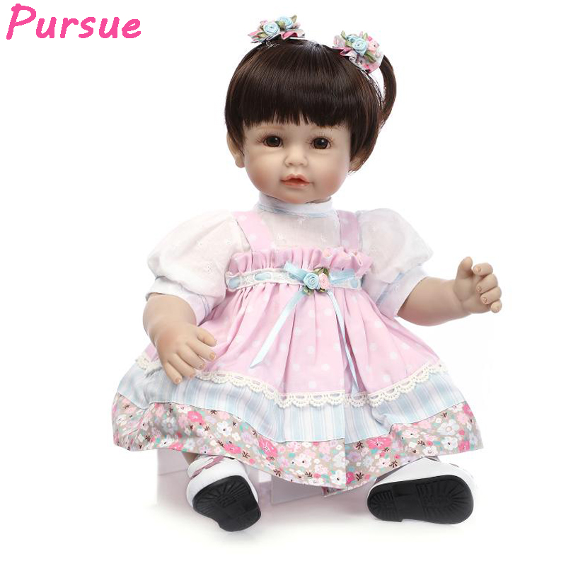 Pursue Doll Reborn Silicone Reborn Babies Dolls American Girl Princess Doll for Girls Boys bebe reborn menina de silicone menina