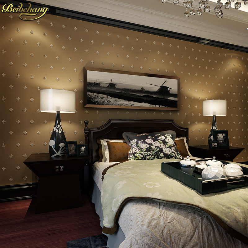 beibehang European Stereo Flocking Pearlescent Non wovens Wallpapers Living Room Bedroom Pony Stone Wall paper papel de parede beibehang american national non wovens wall paper vintage bedroom bedroom living room tv wallpapers papel de parede 3d wallpaper