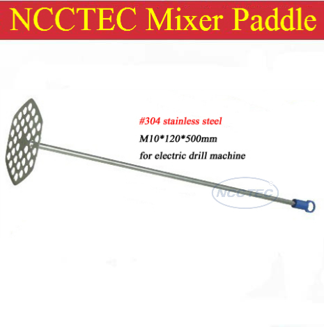 US $45 08 |#304 stainless steel paint mixer paddle shaft FREE shipping |  diameter 4 8'' 120mm, length 20'' 500mm, M10 thread-in Paint Tool Sets from