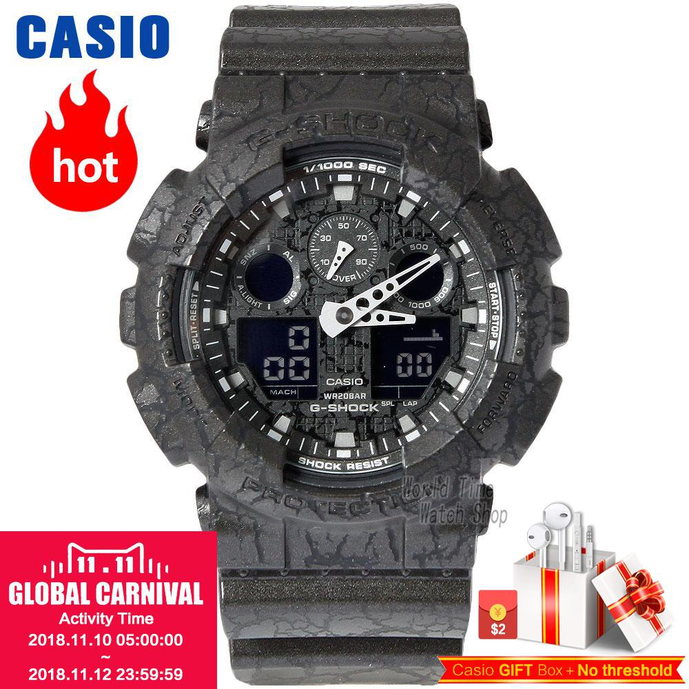 купить Casio Watch Fashion Trends Multifunctional Men's Watches GA-100CG-1A по цене 12113.93 рублей