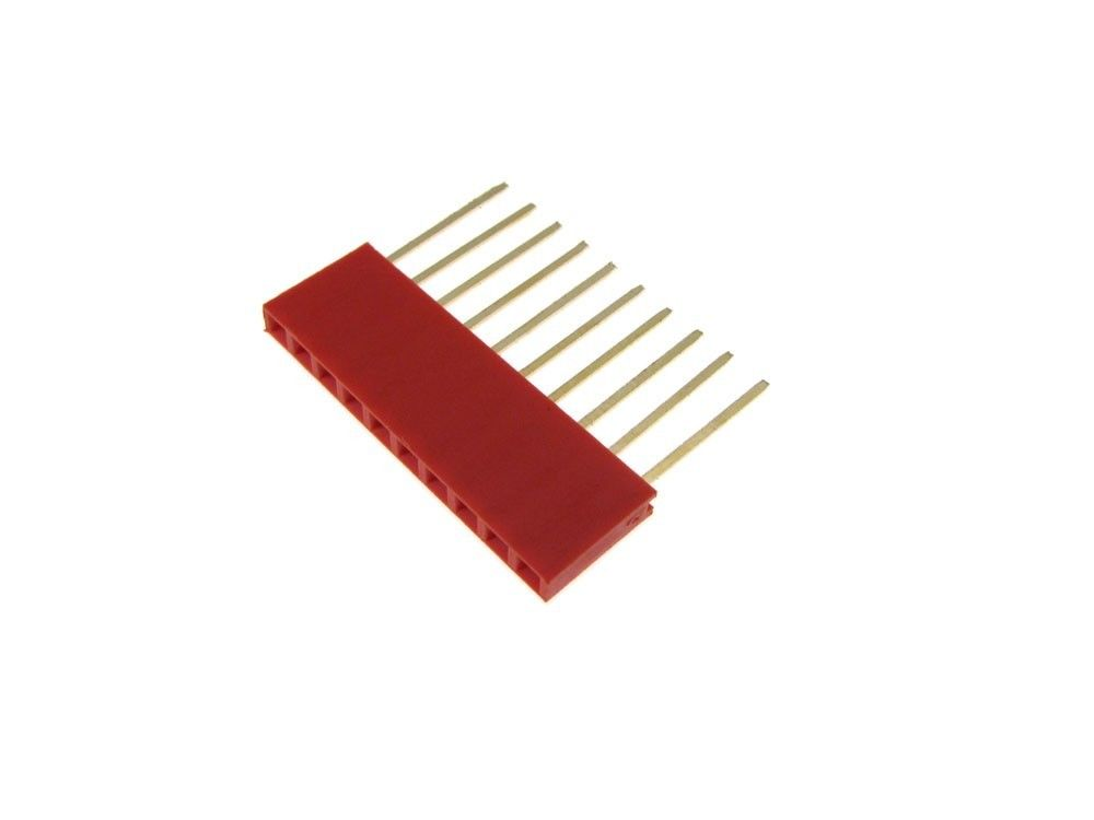 50pcs Red 11mm 2.54mm 10P Stackable Long Legs Female Header For Arduino Shield антифриз peak long life 50 50 g12 10л red