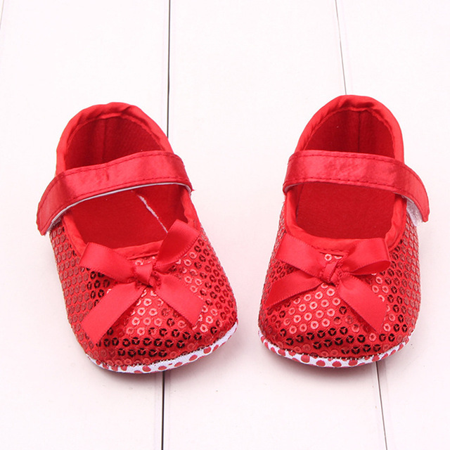 Bright Bling Newborn Baby Girl Shoes Cute Noble Princess Sapatos Bebe Red Dance  Shoes Neonata Soft Sole Family Infant Crib Shoes 87065103b39c