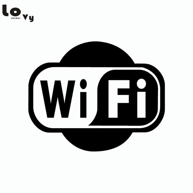 Wifi Logo D Affaires D 233 Coration Vitrine Sticker Mural