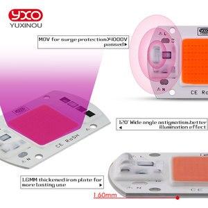 Image 3 - Chip de luz Led para cultivo hidropónico, espectro completo de 380nm ~ 780nm, para invernadero, bricolaje, 20W, 30W, 50W, 230V, 1 Uds.