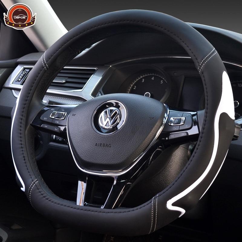 Fashion creative car steering wheel cover Fiber leather material Style D Diameter 38cm Non-slip four seasons car steering