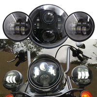 60W 7 Inch Round Led Projector Daymaker Headlight 4 5 30W Motorcycle Led Fog Lamp For