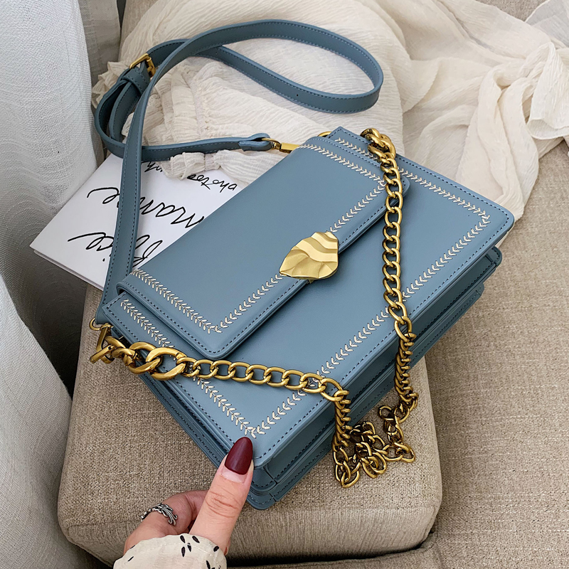 Elegant Female Flap Square Bag 2019 Fashion New Quality PU Leather Women's Designer Handbag Chain Tote Shoulder Messenger Bags