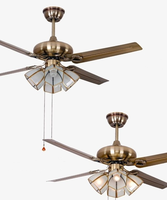 modern ceiling fan. 48inch ceiling fan light iron leaves simple fashion european antique lamp modern fans bedroom