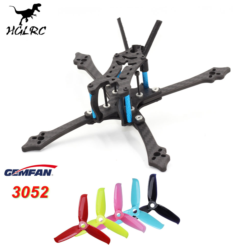 HGLRC Arrow 3 Hybrid 4mm Arm Thickness 3 Inch 152mm FPV Racing Quadcopter Frame Kit with Gemfan <font><b>3052</b></font> Propellers image
