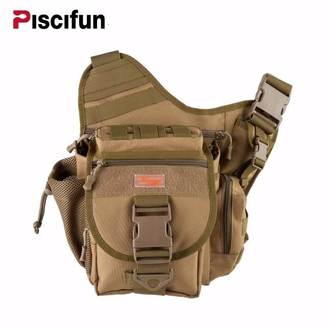 Piscifun Multifunctional Fishing Tackle Bags Fly Gear Storage Nylon Single Shoulder Bag