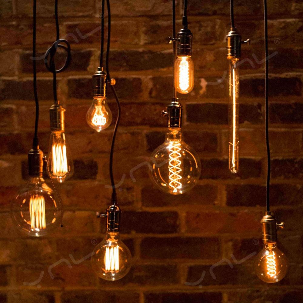 Edison Bulb E27 220V 40W ST64 A19 T45 G80 G95 G125 Incandescent Filament Bulb Lighting Retro Edison Light Bulb