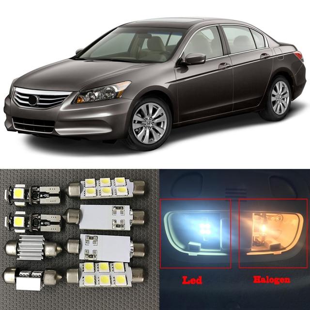 10pcs Bright White LED Light Bulbs Interior Package Kit For 2003 2012 Honda  Accord Led