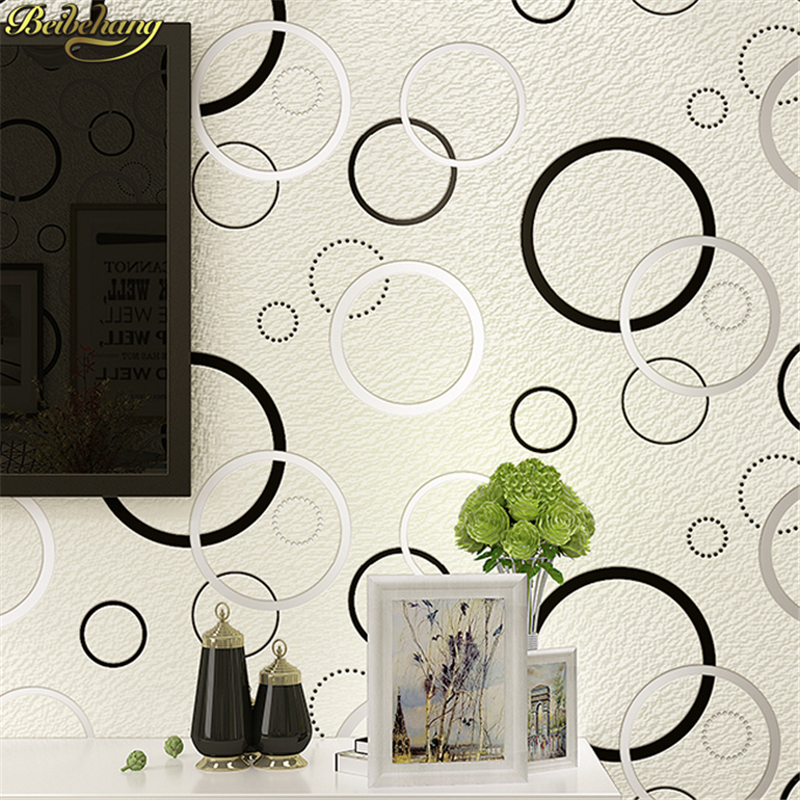 beibehang papel de parede 3d European deerskin geometric circle  Embossed Wallpaper Roll for Bedroom Living Room wall paper roll large mural papel de parede european nostalgia abstract flower and bird wallpaper living room sofa tv wall bedroom 3d wallpaper