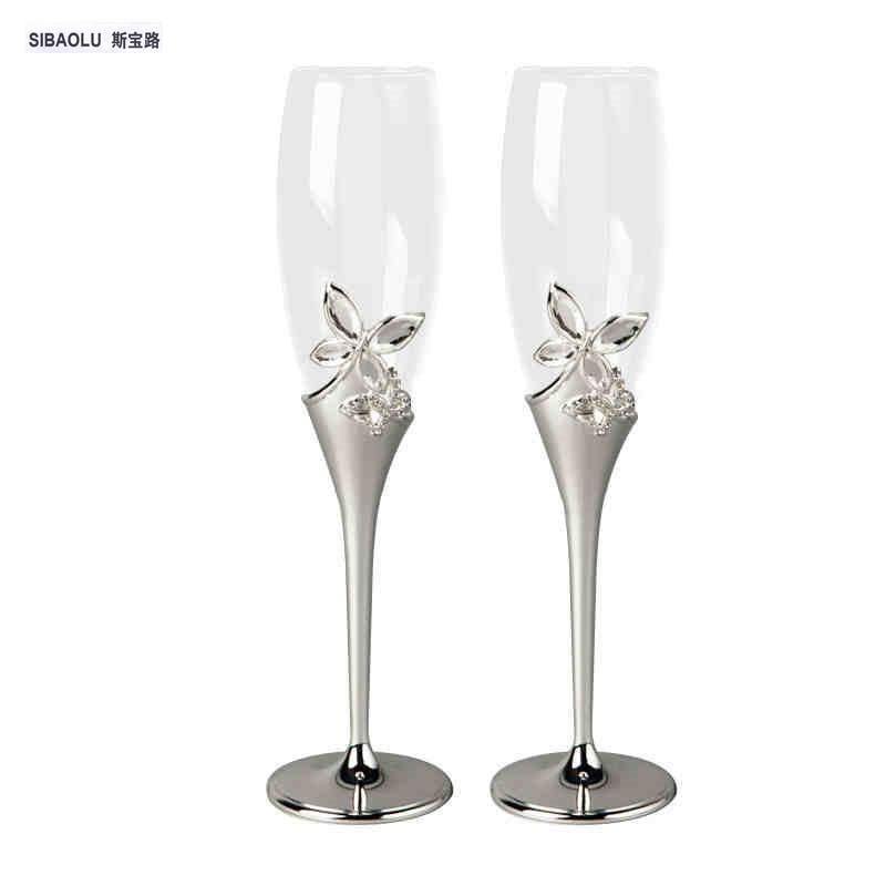 Wedding Gift Champagne Flutes: Wine Glasses Set Champagne Glasses Wedding With Butterfly