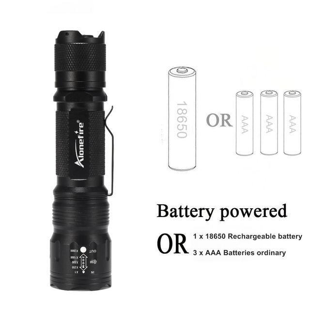 AloneFire TK105 Powerful LED Flashlight 18650 Cree XP-L V6 High Power Pocket Light Penlight 5 Modes Light Bike Strobe Camping