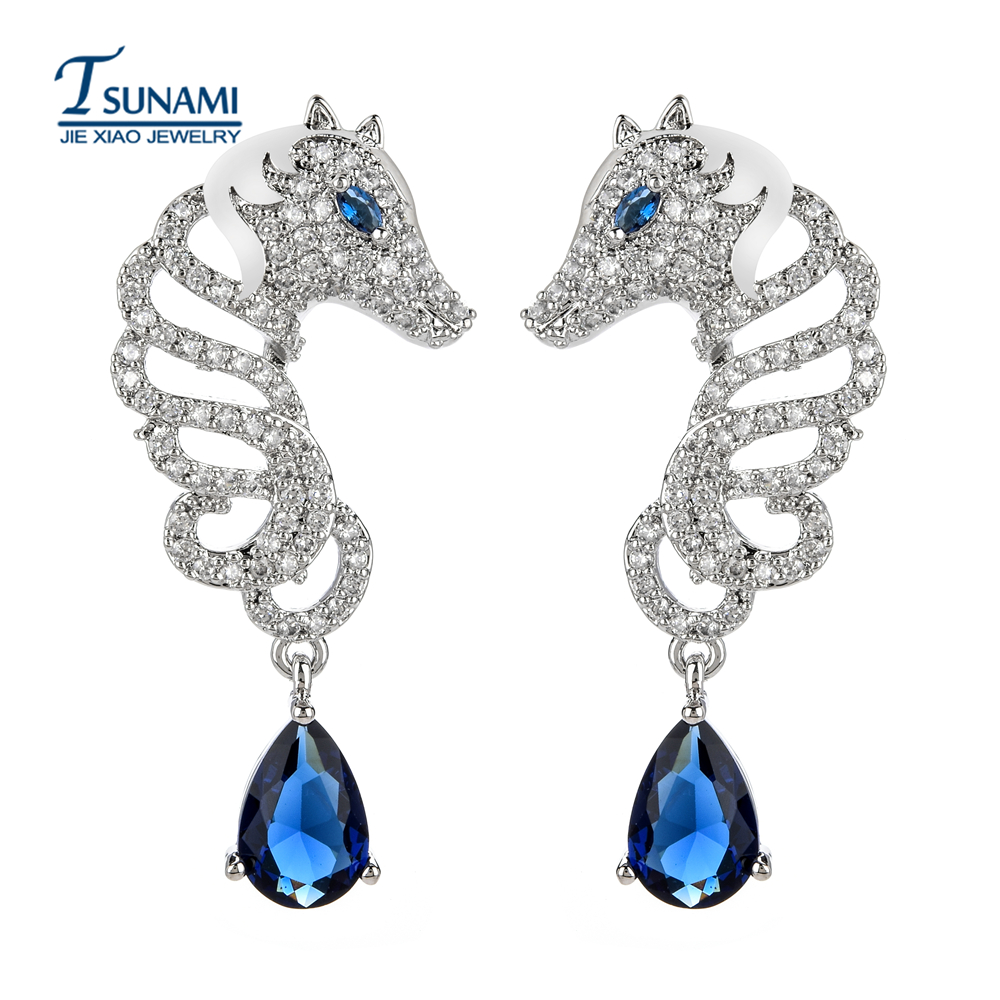 New fashion miniature set of seahorse zircon earrings High quality exaggerated jewelry for women/girls ER-201