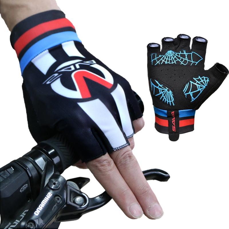 Prodyšné protiskluzové jízdní cyklistické rukavice Poloprsté Cyklistické rukavice Muži Sportovní Outdoor Letní motocykl Cyklistika Příslušenství