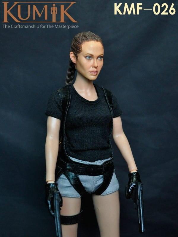 Free shipping kumik KMF026 1:6 Tomb Raider Angelina Jolie 12inch Beautiful female doll ,  set of End product цена 2017