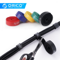 ORICO CBT-5S Cable Organizer Wire Cable Holder Cable Winder 5 Pcs Nylon Cable Colorful Ties Label Ribbon Wire