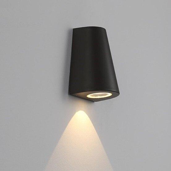 Outdoor Lighting Wall Lamp Led Porch Light 5W IP65 Waterproof Black Aluminum Lamp Fixture