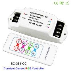 BC-361-CC DC12V-48V 350ma 700ma 정전류 출력 led 램프에 대 한 rf 무선 원격 led rgb 스트립 컨트롤러